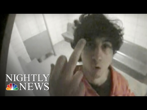 Boston Bomber Tsarnaev's Obscene Gesture Shocks Court | NBC Nightly News
