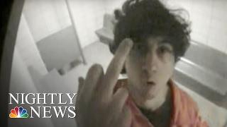 Boston Bomber Tsarnaev's Obscene Gesture Shocks Court | NBC Nightly News