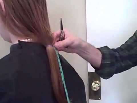 haircut and hairchop of a ponytail ( press like for long dislike short)