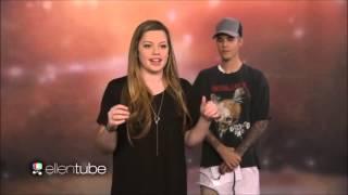 Justin Bieber at The Ellen Show take Surprises Superfans