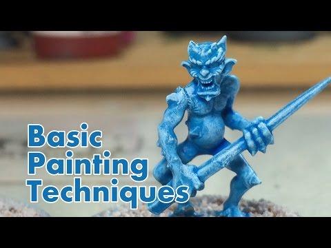 How to Paint Miniatures - The Basics - NPC Chris Vlog 004