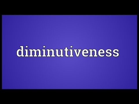 Header of diminutiveness