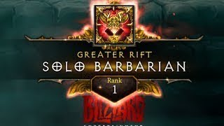 Diablo 3 2.6.1 | GR118 Solo Barbarian | Rank 1 World ( Charge )