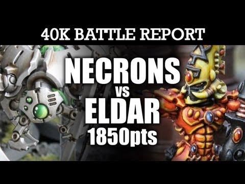 Eldar vs Necrons Warhammer 40k Battle Report VISUALLY STUNNING! 6th Edition 1850pts   HD Video