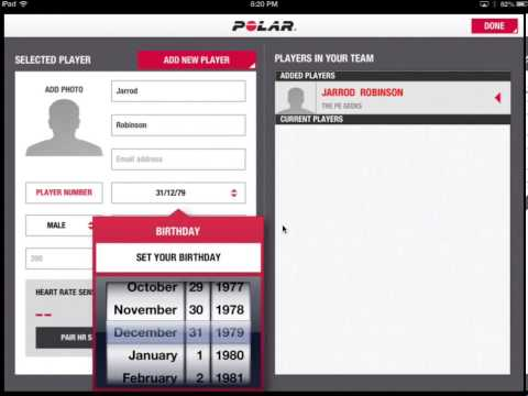 Polar Team iPad App Demo