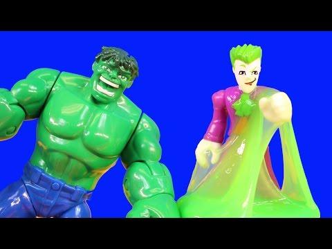The Hulk Vomits On Imaginext Joker Bad Guys And Disney Pixar Cars Doctor Mater Plays Dress Up