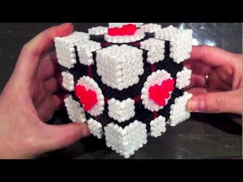 Hama Beads / Perler Beads Companion Cube and more
