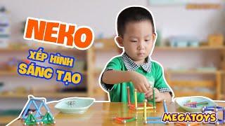 Xếp hình nam châm Neko giúp tăng trí thông minh, sáng tạo