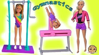 Gymnastics Lessons - Barbie Gym Coach Helps Girl Flip in Air - New Doll Video