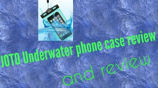 JOTO underwater phone case review with footage