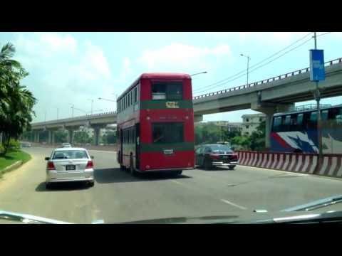 Dhaka City Drive 13 - Zillur Rahman Flyover - Mirpur to Bonani Gulshan Exit - Bangladesh