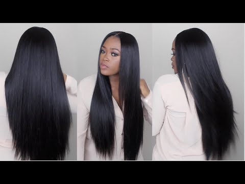 Watch Me Slay This Wig From Start To Finish   Sleek Straight Long Hair