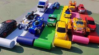Hello CARBOT TOBOT CAR COLOR SLIDE 카봇 또봇 색깔 미끄럼틀 놀이