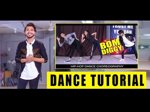 Dance Tutorial Bom Diggy | Step By Step Bollywood Hiphop | Vicky Patel Choreography