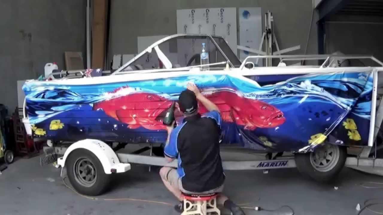 Boat Graphic Wrap Quintrex Freedom Sport Graphic Wraps