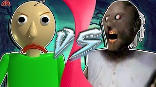 BALDI vs GRANNY! (Granny vs Baldi's Basics Animation) | CARTOON FIGHT CLUB
