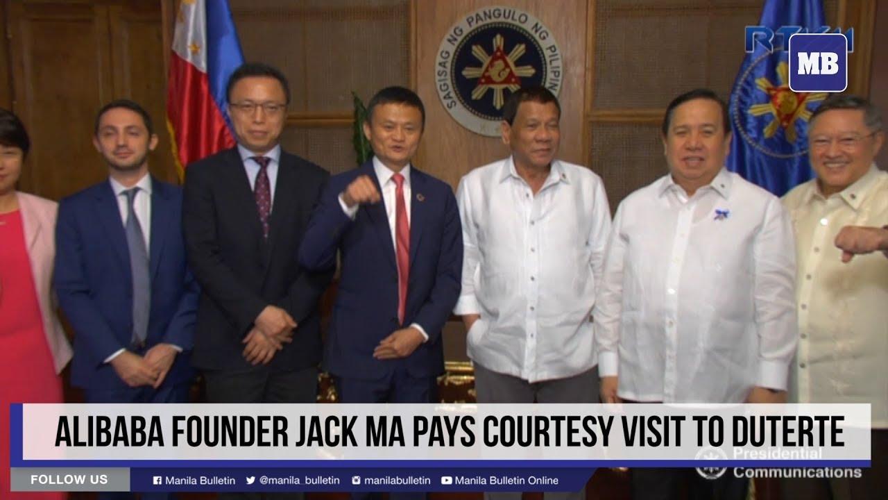 Jack Ma meets Duterte, urges rapid internet