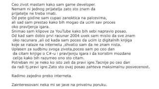 Oglas za Game Developera