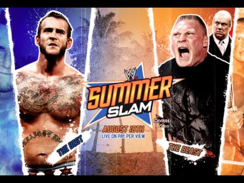WWE Summerslam 2013 CM Punk vs Brock Lesnar Full Match HD! (WWE 13)
