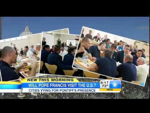 Fordham's Patrick Hornbeck on Good Morning America: Pope Francis to visit U.S.