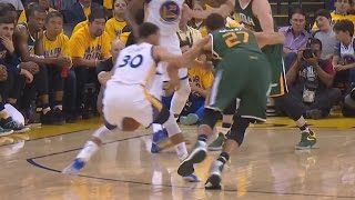 Stephen Curry Gives Rudy Gobert a Map! He's Spinning! Jazz Warriors Game 1