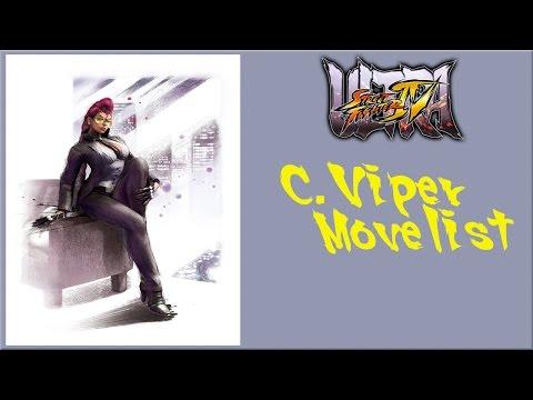 Ultra Street Fighter IV - C Viper Move List