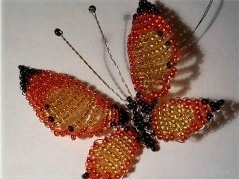 Узнайте, как сделать бабочку из бисера в двух разных техниках - параллельным и мозаичным плетением. .