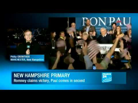US presidential election 2012 - Mitt Romney cruises to victory in New Hampshire