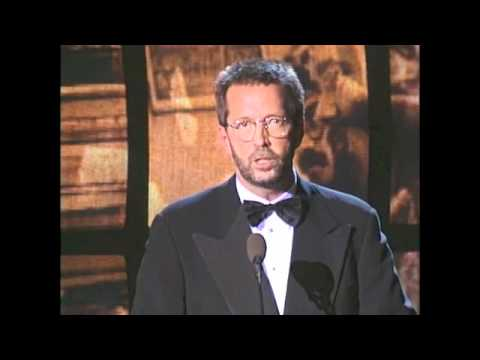 Eric Clapton Inducts The Band into the Rock and Roll Hall of Fame in 1994