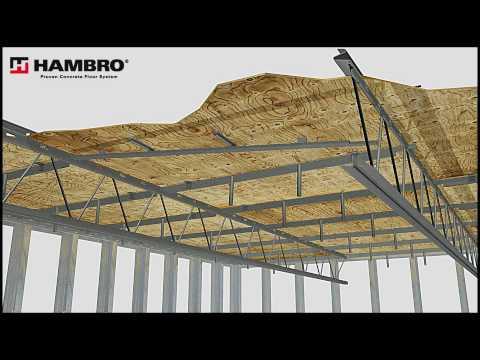 Hambro Concrete Composite Floor W Metal Studs Avi Youtube