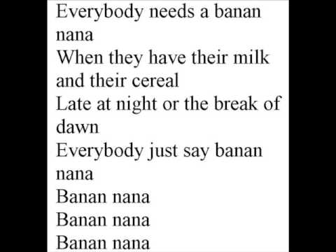 The Banana Rap with lyrics Music Videos