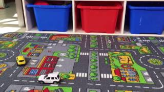 Colourful Kids Roads Play Mat