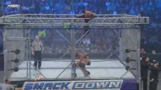 WWE Smackdown Rey Mysterio vs Batista Steel Cage Match 15/01/10 Part 2(HQ)