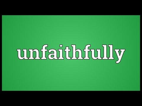 Header of unfaithfully