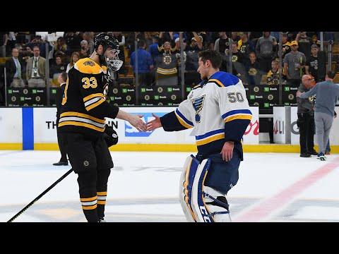 Blues, Bruins Shake Hands After Game 7