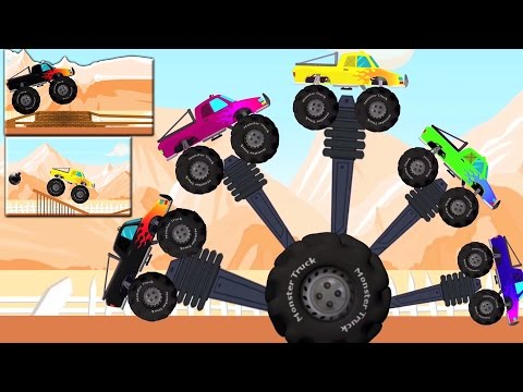 monstruo camiones dedo familia | niños Rima | Nursery Rhyme For Kids | Monster Truck Finger Family