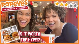 TRYING POPEYES NEW CHICKEN SANDWICH | IS IT WORTH THE HYPE!?