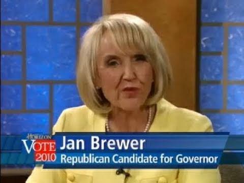Top 10 Viral Videos of 2010 - #10 (Jan Brewer Freezing during Live Debate)