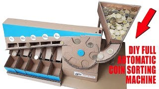 How To Make Full Automatic Coin Sorting Machine V2. DIY Full Automatic Coin Sorting Machine.