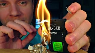 How to start a fire with a cell phone
