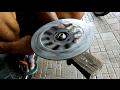 Cara Mudah Membuat Tempat Airbrush - MENGGUNAKAN CAKRAM MOTOR BEKAS Part 1