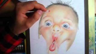 Sweet Baby ( With Color Pencil ) - Speed Drawing
