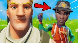 I Pretended I'm a PRO at Fortnite... and got challenged 1v1