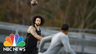 Watch: Colin Kaepernick Works Out In Georgia | NBC News