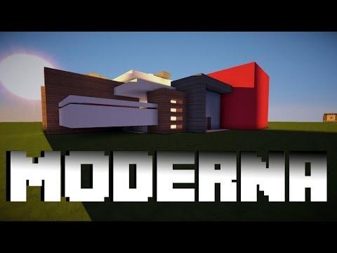 Como hacer una casa moderna en minecraft! DESCARGA [Tutorial Pt. 1]