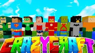 THE SUPERHERO HALL w/ TEWTIY, ALEXACE, AND FRIZZLENPOP - MINECRAFT CRAZY CRAFT SURVIVAL #7