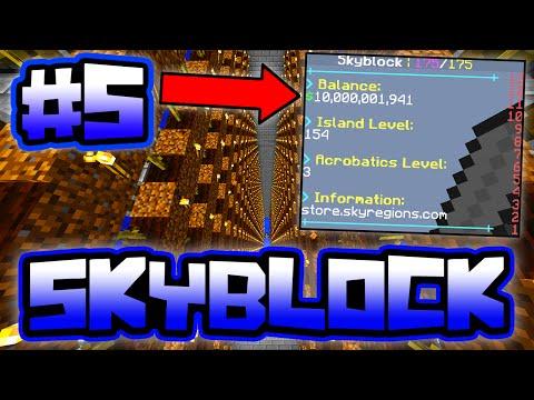 BIGGEST AUTO FARM ON THE SERVER!! | Server SkyBlock In Minecraft #5