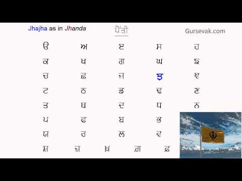 Learn Gurmukhi Step 01: Sounds of 35+6 Letters