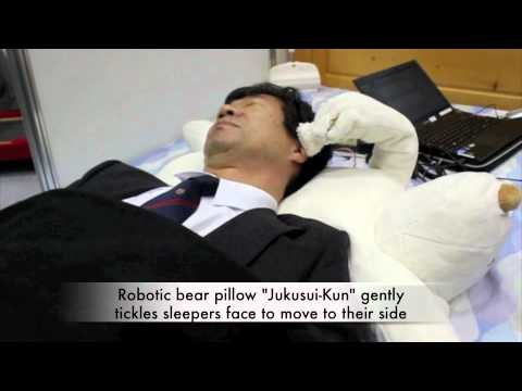 Jukusui-Kun Robotic Bear Pillow - ShiftEast.com