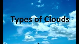 Cloud Types -for kids.